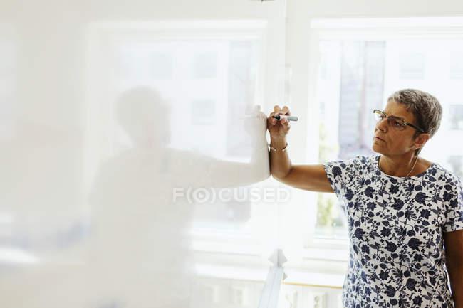 Учитель пояснити матеріал — стокове фото