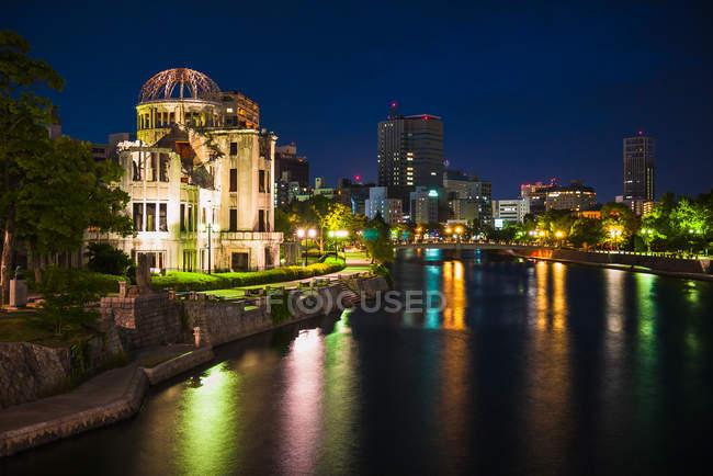 Cúpula de bomba atômica em hiroshima — Fotografia de Stock