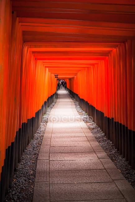 Chemin des portes torii à Kyoto — Photo de stock
