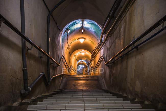 Túneis militares subterrâneos da Marinha do Japão — Fotografia de Stock