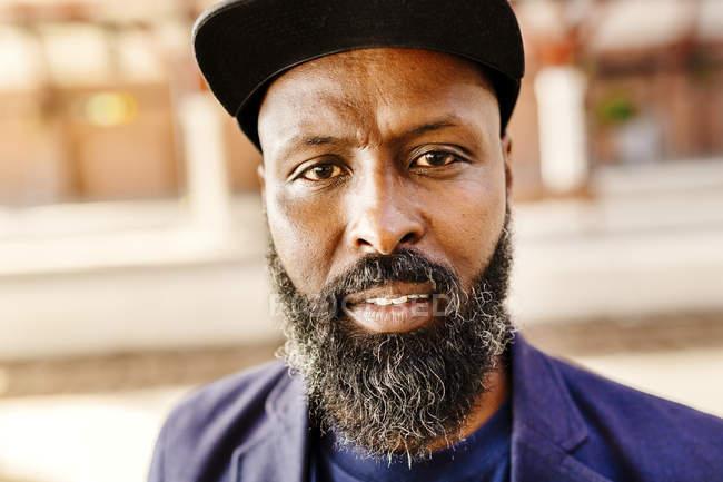Confident bearded man — Stock Photo