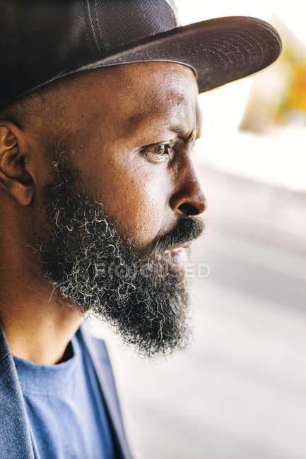 Thoughtful man outdoors — Stock Photo
