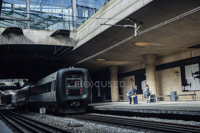 Oresundstag halted at railroad station — Stock Photo