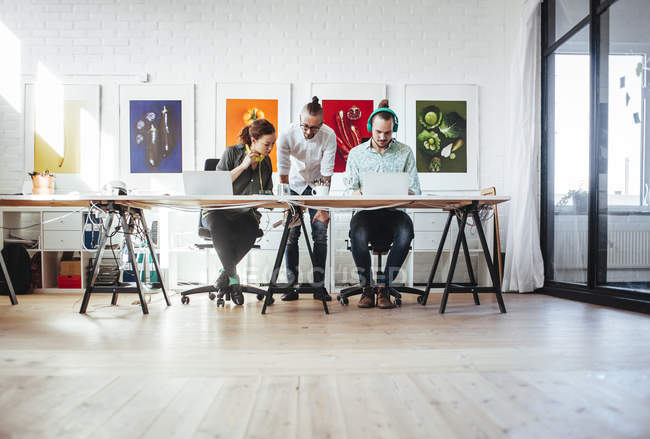 Creative business people working together — Stock Photo