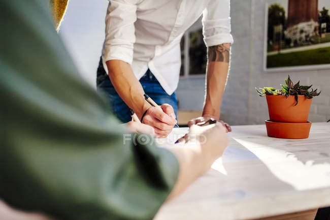 Business people preparing project — Stock Photo