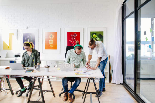 Team of creative business people — Stock Photo