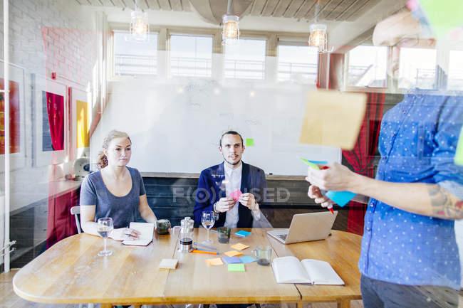 Creative business people preparing presentation — Stock Photo