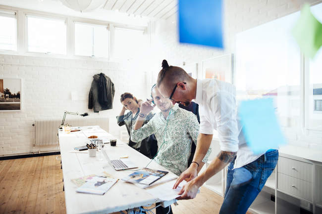 Business people working at table — Stock Photo