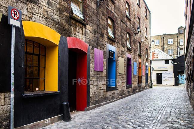 Multi colored windows — Stock Photo