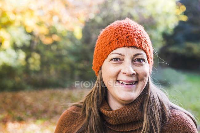 Portrait of happy mature woman — Stock Photo