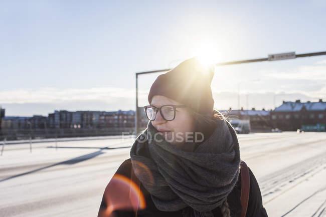 Woman looking away — Stock Photo