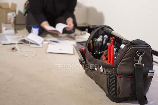 Close-up of tool bag — Stock Photo
