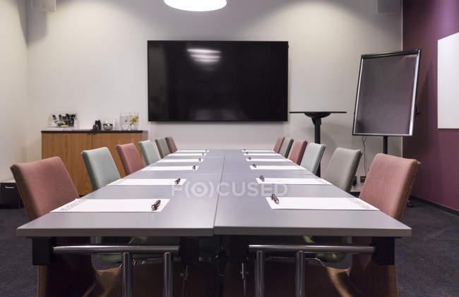 Interior of empty board room — Stock Photo