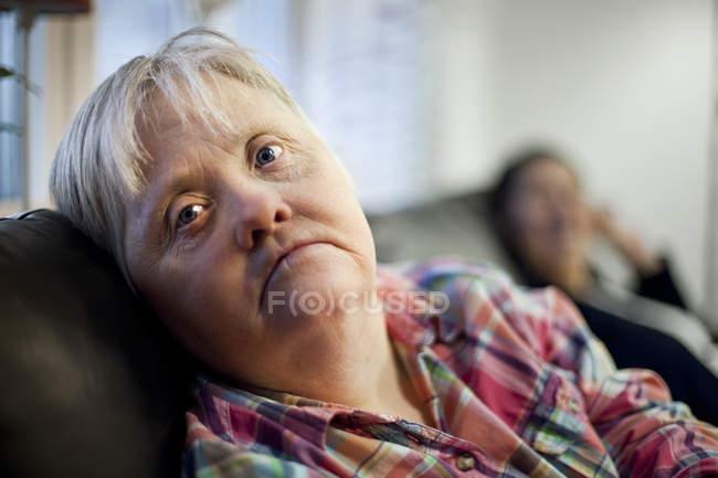 Donna con sindrome di down — Foto stock