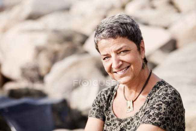 Smiling mature woman — Stock Photo