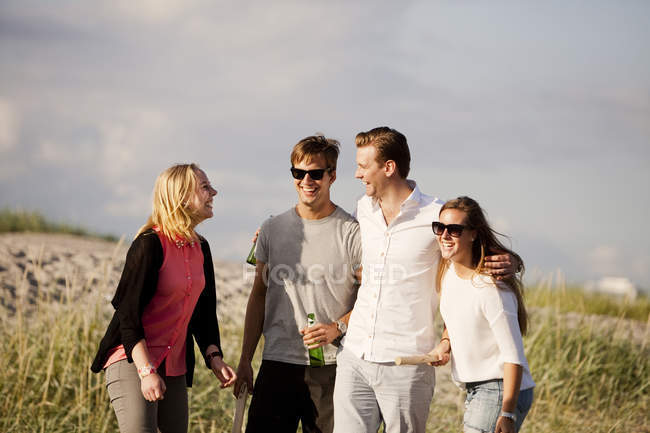 Cheerful young friends — Stock Photo