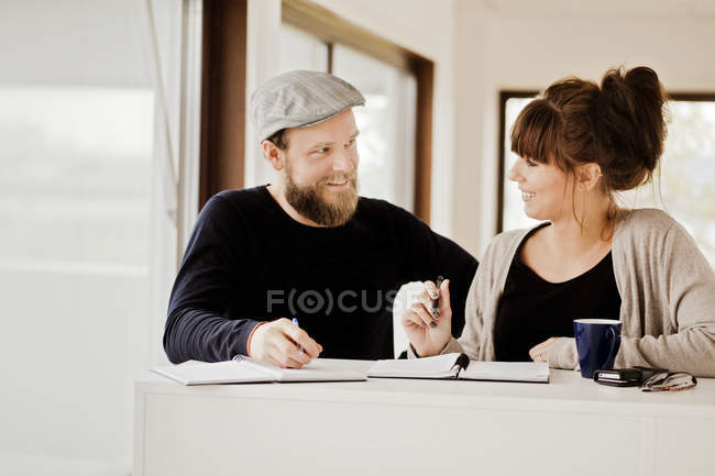 Business people discussing during meeting — Stock Photo