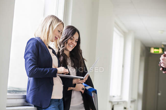 Happy female business colleagues — Stock Photo