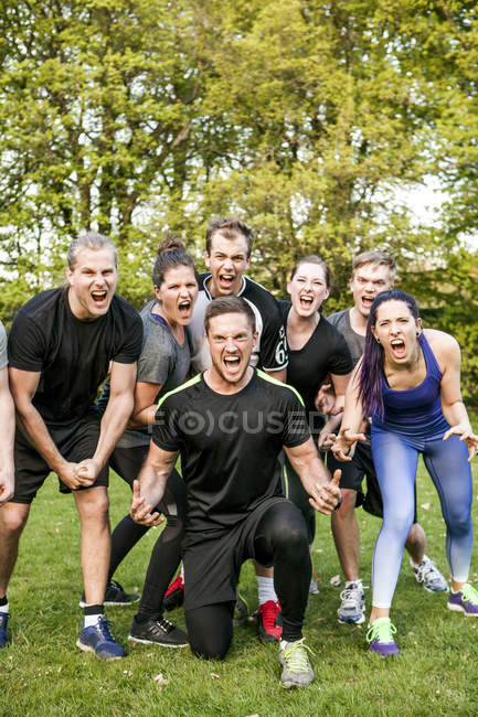 Portrait of male and female athletes — Stock Photo