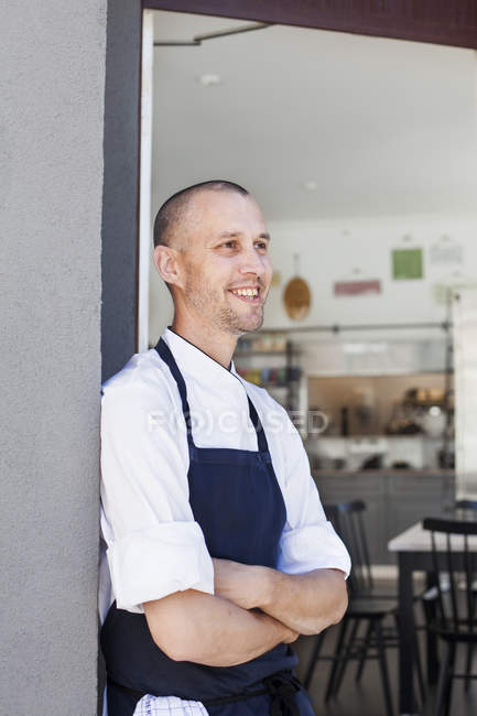 Happy thoughtful chef — Stock Photo