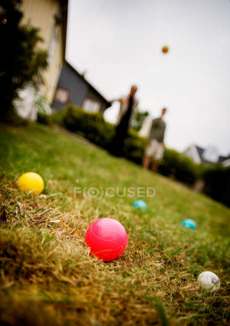 People playing with balls — Stock Photo