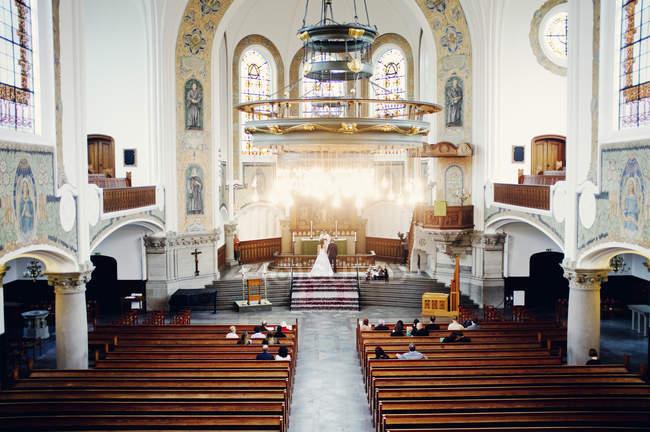 Trauung in der Kirche — Stockfoto