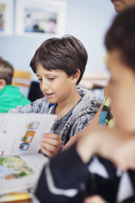Boys learning in classroom — Stock Photo