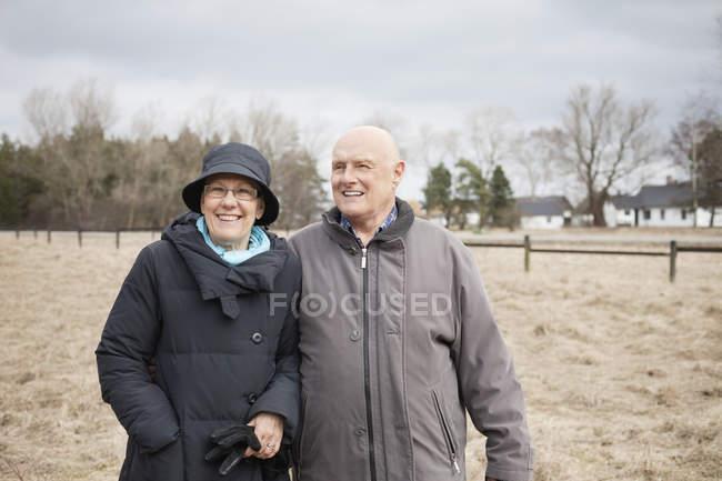 Felice coppia anziana — Foto stock