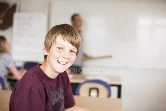 Heureux junior lycéen — Photo de stock