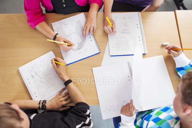 Junior high students — Stock Photo