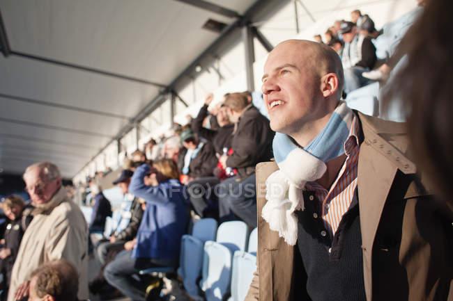 People watching match — Stock Photo