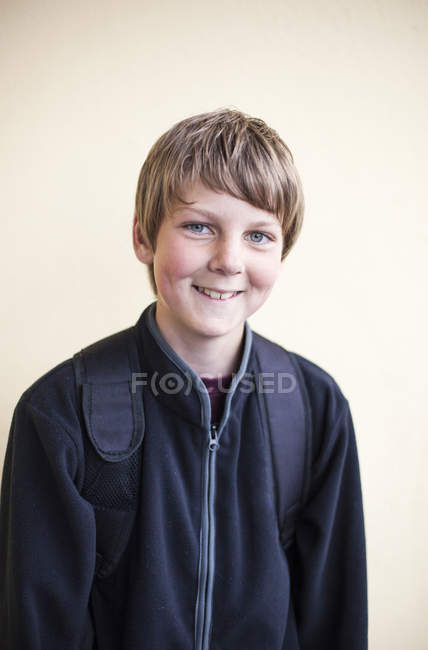 Happy junior high schoolboy — Stock Photo
