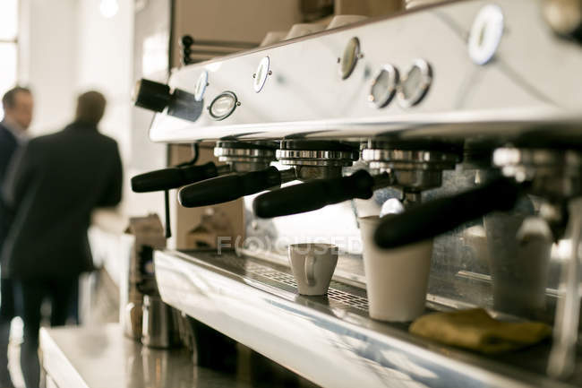 Espresso maker in coffee shop — Stock Photo