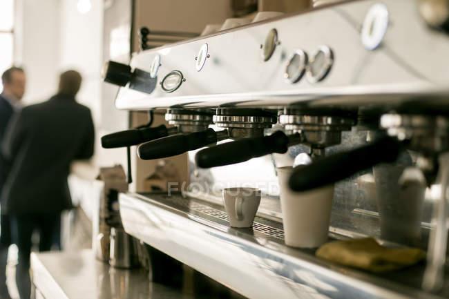 Espresso maker in coffee shop — Stock Photo