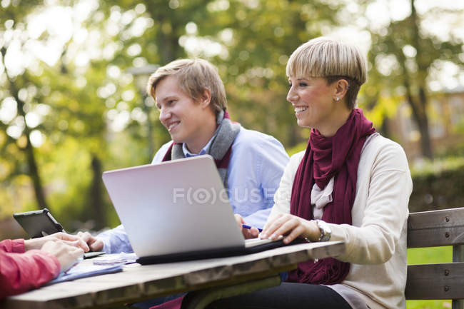 Happy young students — Stock Photo