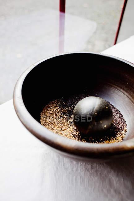 Насіння гірчиці з Ступка — стокове фото