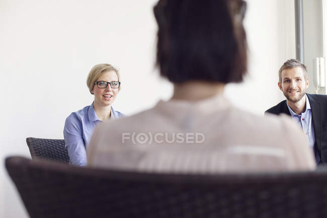 Smiling creative business people — Stock Photo