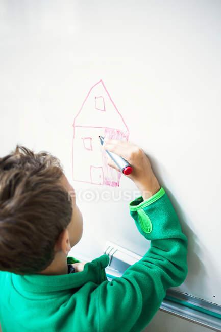 Disegno casa ragazzo — Foto stock