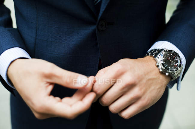 Close-up of businessmans hands — Stock Photo