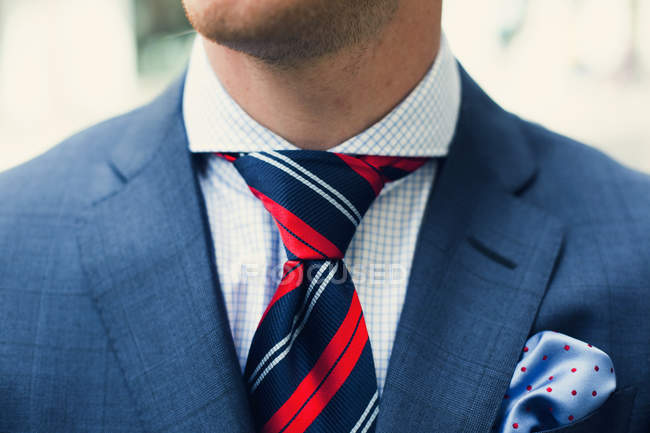 Midsection of businessman in suit — Stock Photo