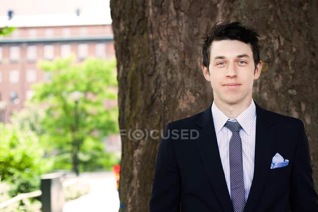 Portrait of confident businessman — Stock Photo