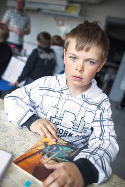 Portrait of serious boy — Stock Photo