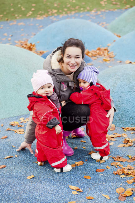 Happy mother with daughters — Stock Photo