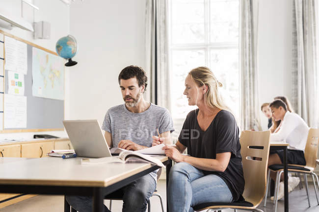 Teachers and Young Students — Stock Photo