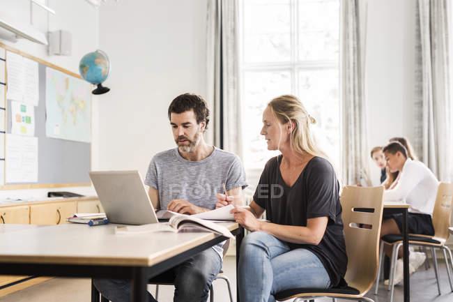 Lehrer und Schüler — Stockfoto