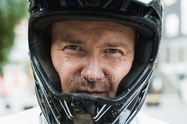 Man in safety helmet — Stock Photo
