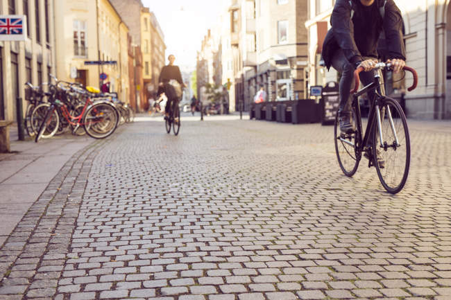 People riding bicycles — Stock Photo