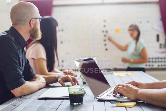 Coworkers working in modern office — Stock Photo