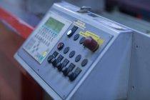 Vue détaillée du tableau de commande de l'équipement — Photo de stock