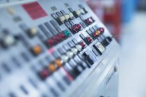 Detail view of equipment control board — Stock Photo